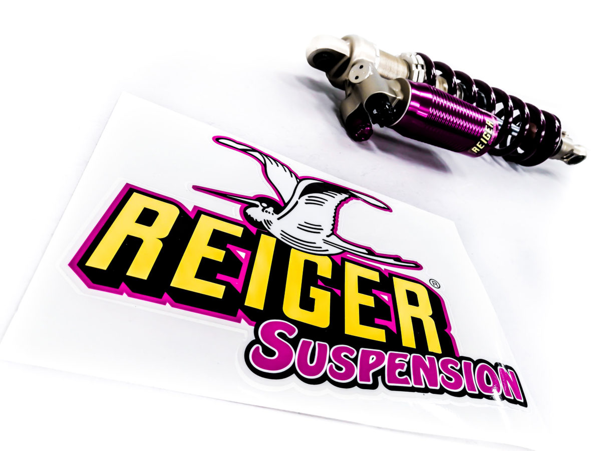 Sticker Left 310x220mm - Reiger Suspension