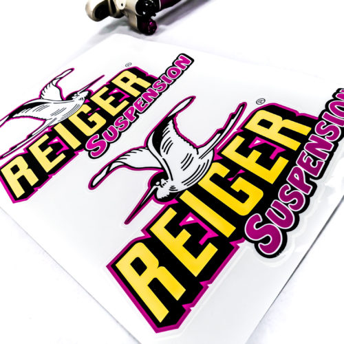 Stickers 310x220mm - Reiger Suspension